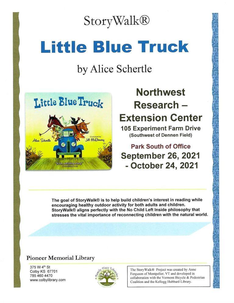 Little Blue Truck Storywalk Flyer